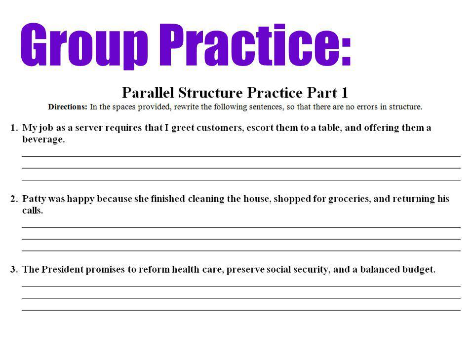Parallel Structure Lesson 23 Quiz (Individual Practice)