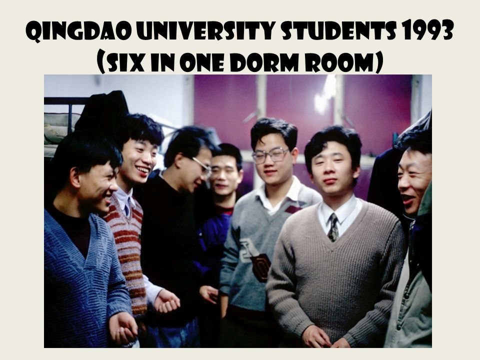 Qingdao University Students 1993 ( Six in one dorm Room)