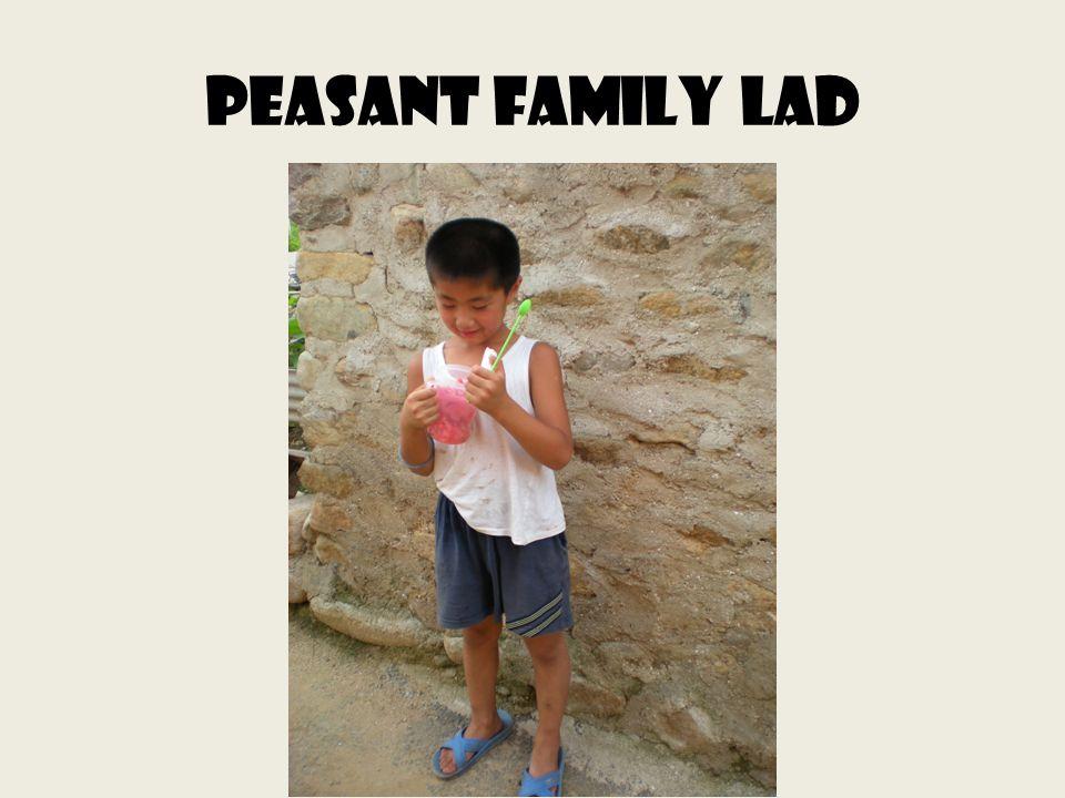 Peasant family lad