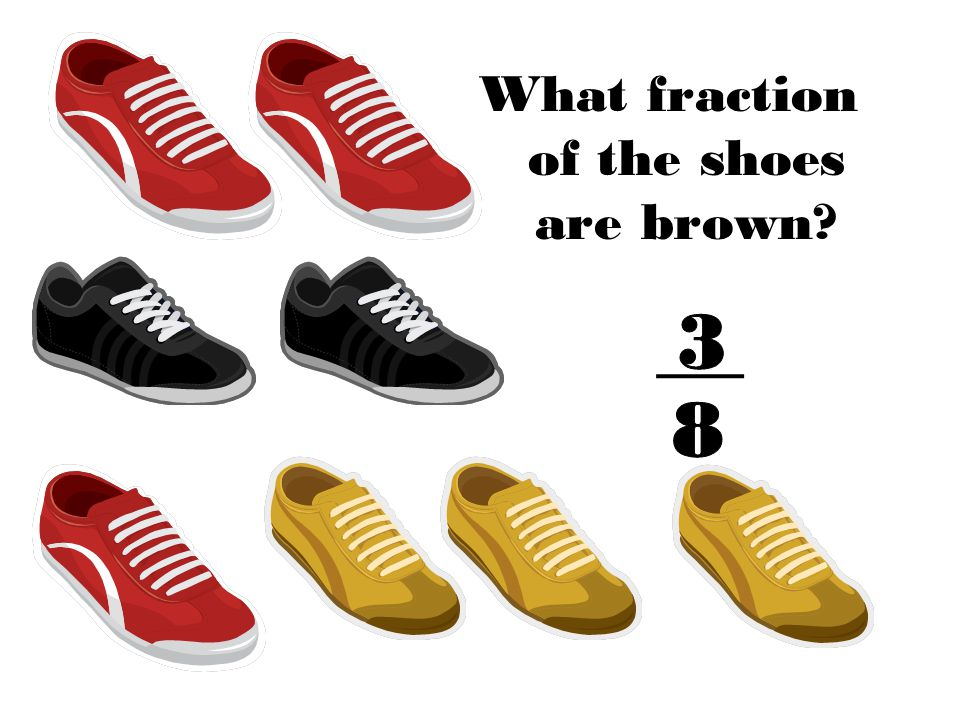 What fraction of the shoes are brown?