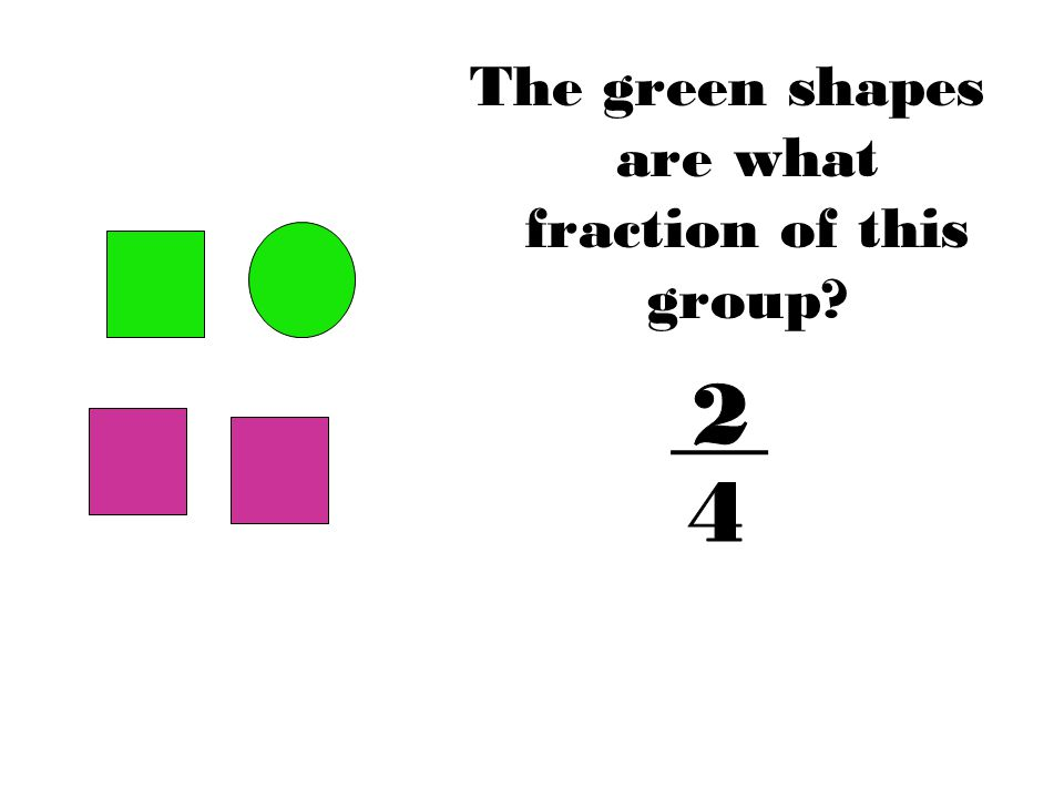 The green shapes are what fraction of this group?