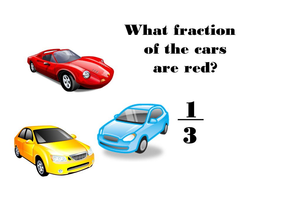 What fraction of the cars are red?