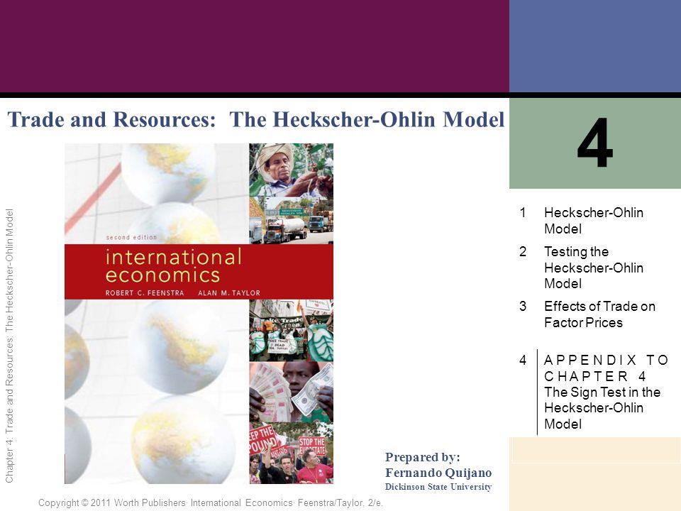 1 of 55 Copyright © 2011 Worth Publishers· International Economics· Feenstra/Taylor, 2/e.