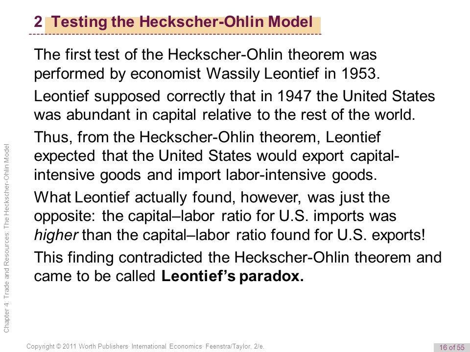 16 of 55 Copyright © 2011 Worth Publishers· International Economics· Feenstra/Taylor, 2/e.