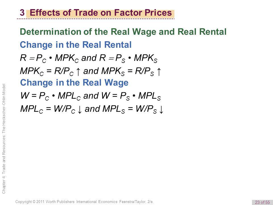 23 of 55 Copyright © 2011 Worth Publishers· International Economics· Feenstra/Taylor, 2/e.