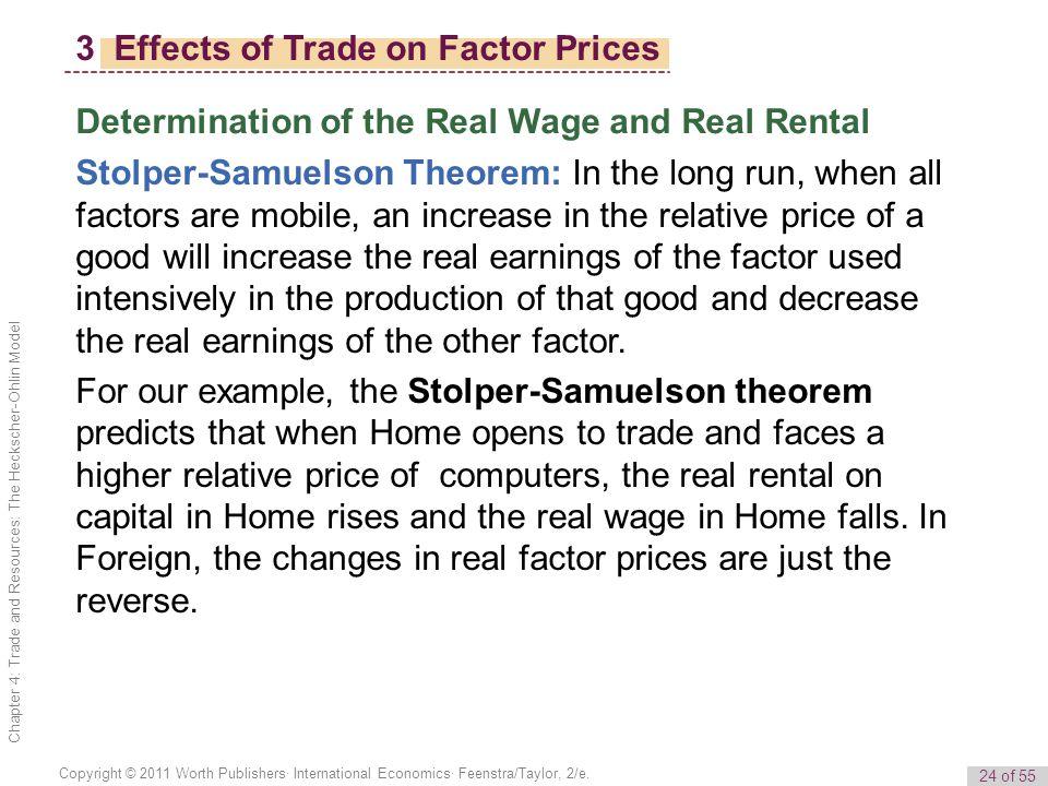 24 of 55 Copyright © 2011 Worth Publishers· International Economics· Feenstra/Taylor, 2/e.
