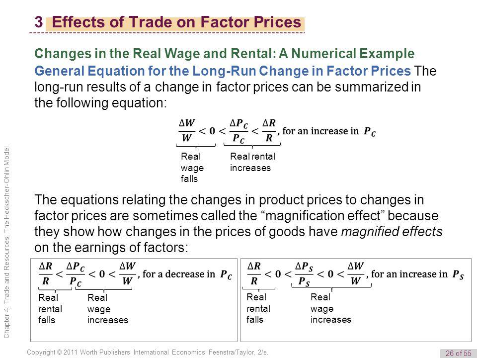 26 of 55 Copyright © 2011 Worth Publishers· International Economics· Feenstra/Taylor, 2/e.