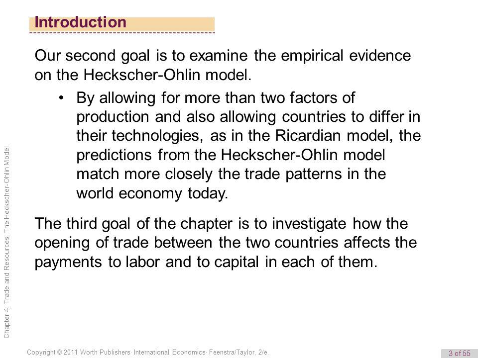 3 of 55 Copyright © 2011 Worth Publishers· International Economics· Feenstra/Taylor, 2/e.