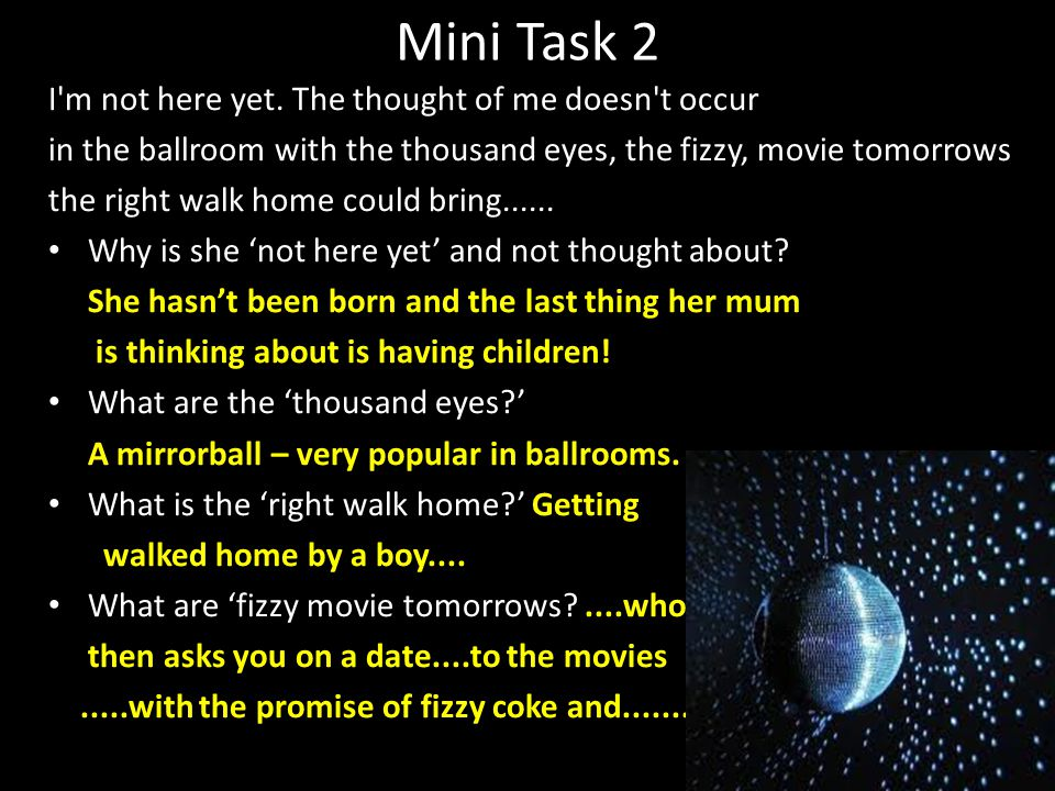Mini Task 2 I m not here yet.