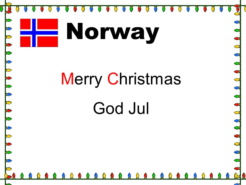 Norway Merry Christmas God Jul