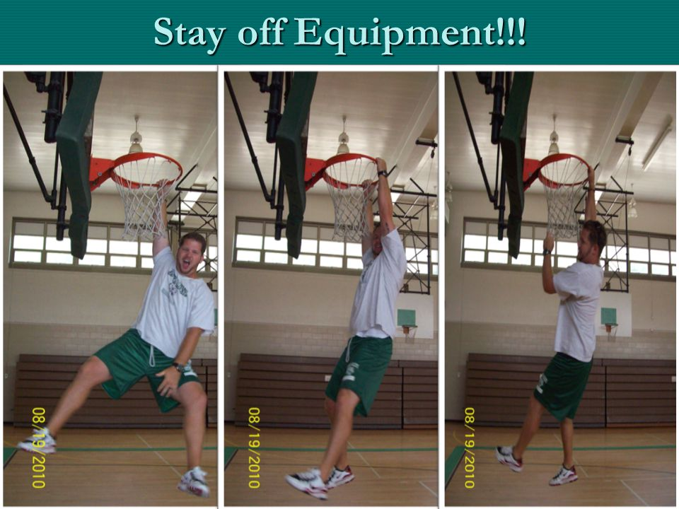 Stay off Equipment!!!