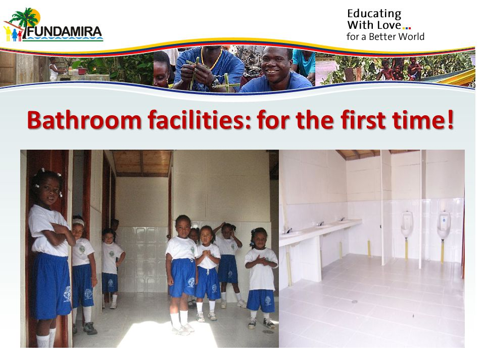 Bathroom facilities: for the first time!