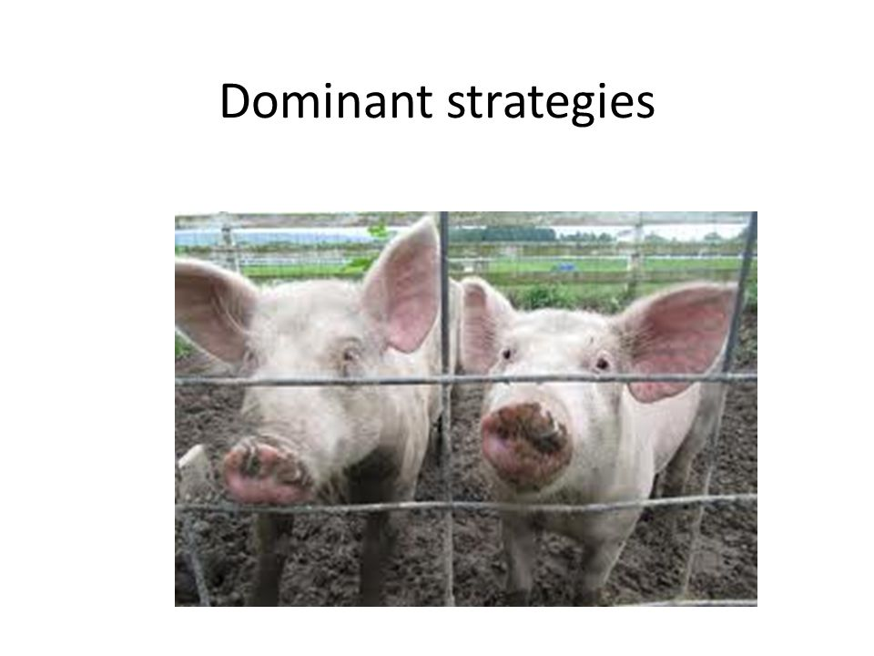 Dominated strategies.