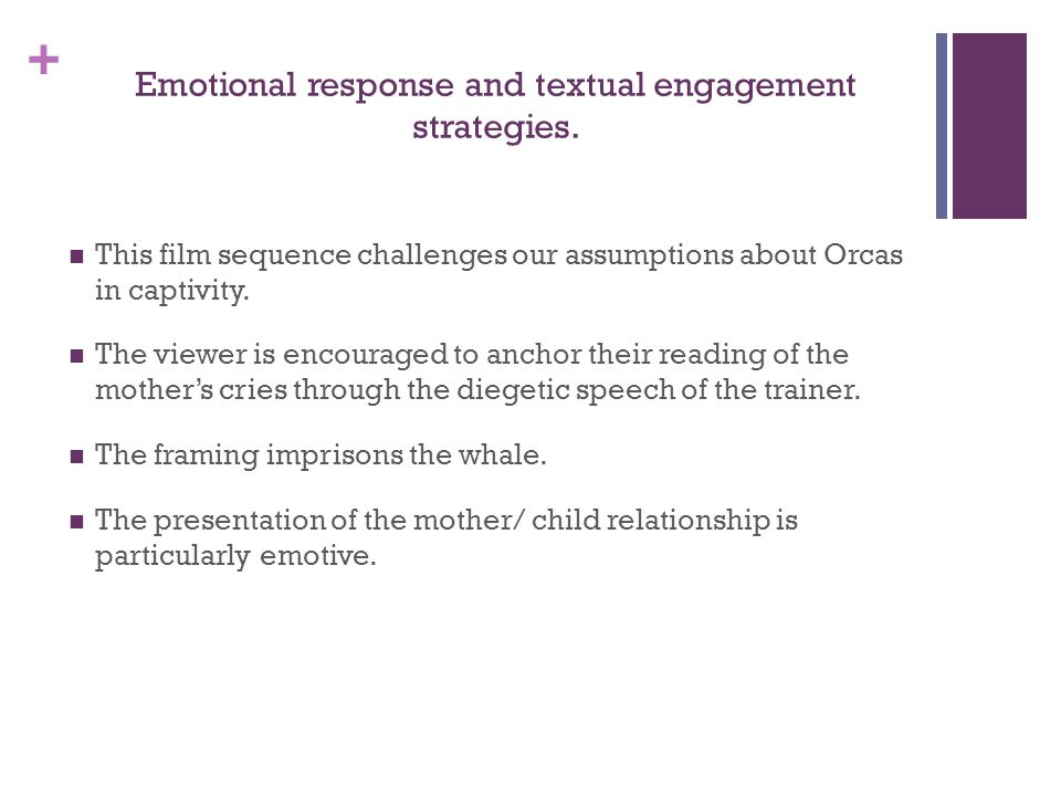 + Emotional response and textual engagement strategies.