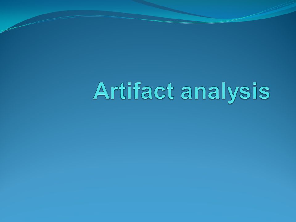 Artifact analysis One of the causes of rejected images listed in the repeat analysis worksheet is the presence of image artifacts.