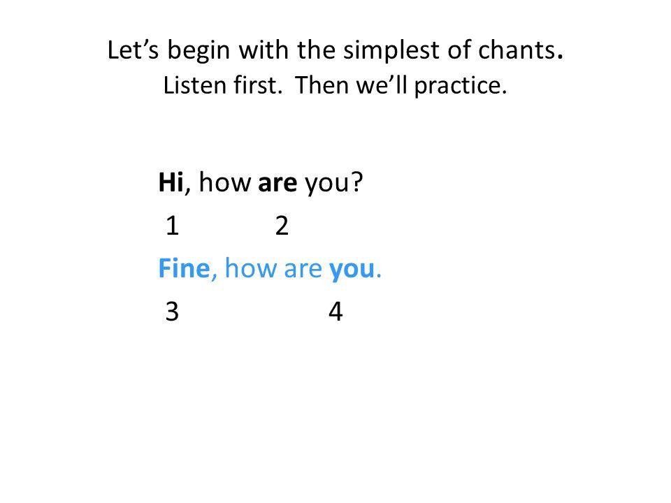 How I teach jazz chants...1.Introduce the chant orally first.