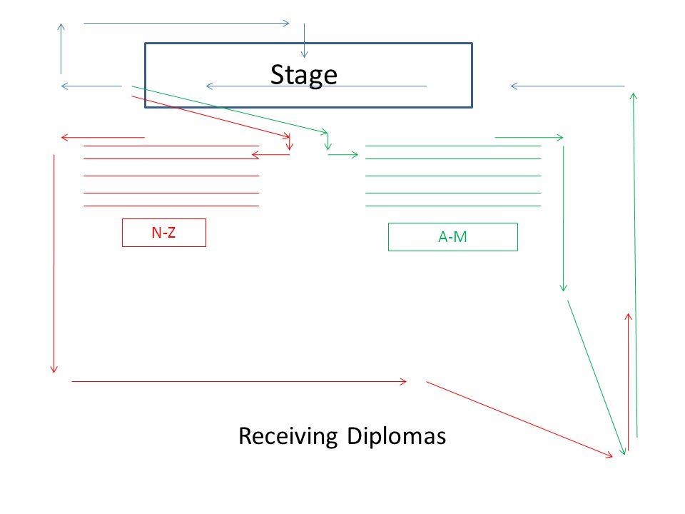 Stage Receiving Diplomas A-M N-Z
