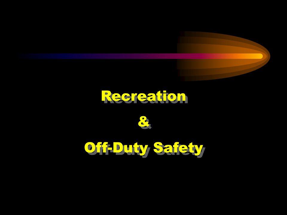 Recreation & Off-Duty Safety Recreation & Off-Duty Safety