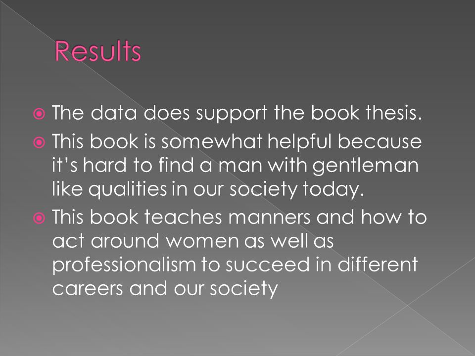 The data does support the book thesis.