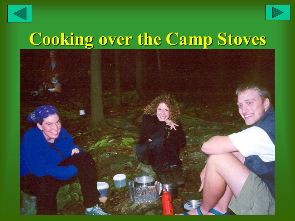 Cooking over the Camp Stoves