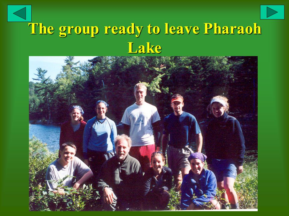 The group ready to leave Pharaoh Lake