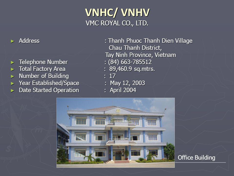 VMC ROYAL CO., LTD. VNHC/ VNHV Address : Thanh Phuoc Thanh Dien Village Address : Thanh Phuoc Thanh Dien Village Chau Thanh District, Chau Thanh Distr