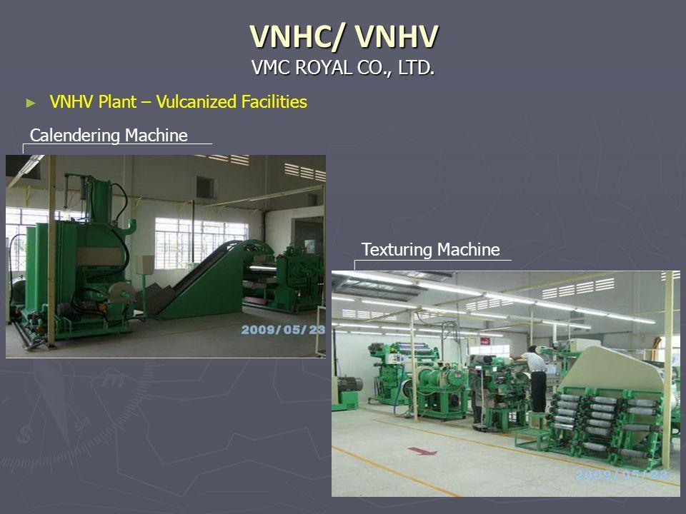 VMC ROYAL CO., LTD. VNHC/ VNHV Calendering Machine Texturing Machine VNHV Plant – Vulcanized Facilities