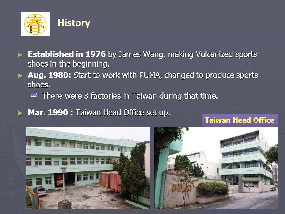 , Jianle Footwear, PUMA first factory in China.Nov.
