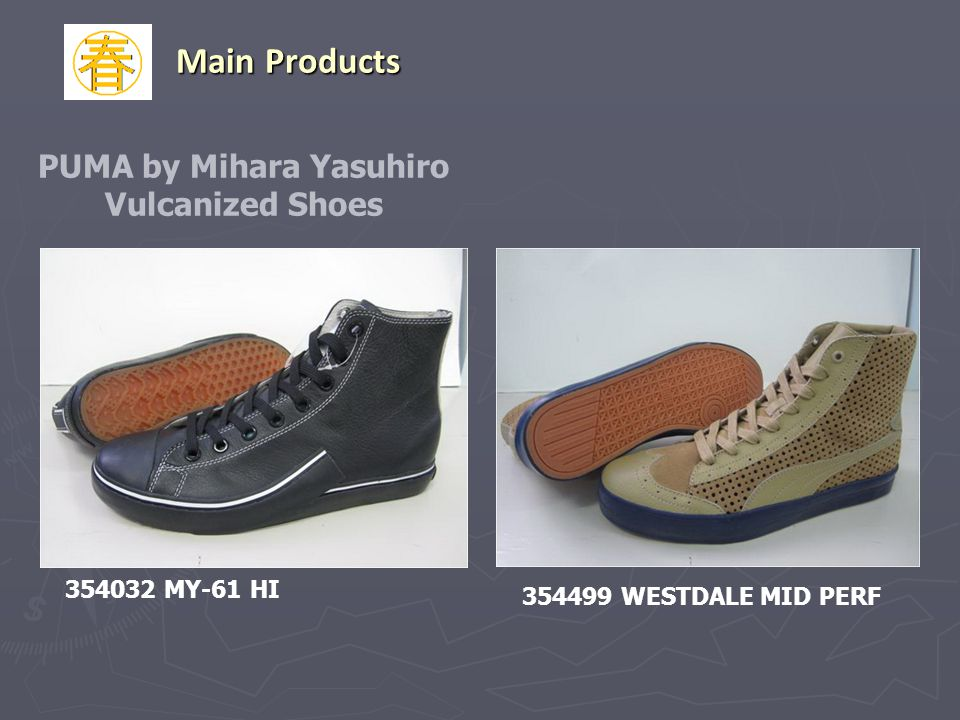 354499 WESTDALE MID PERF PUMA by Mihara Yasuhiro Vulcanized Shoes 354032 MY-61 HI Main Products