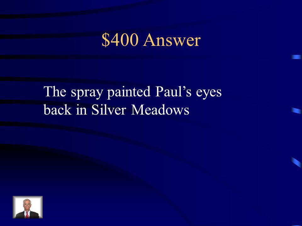$400 Question What is the secret with Vincent Castor?