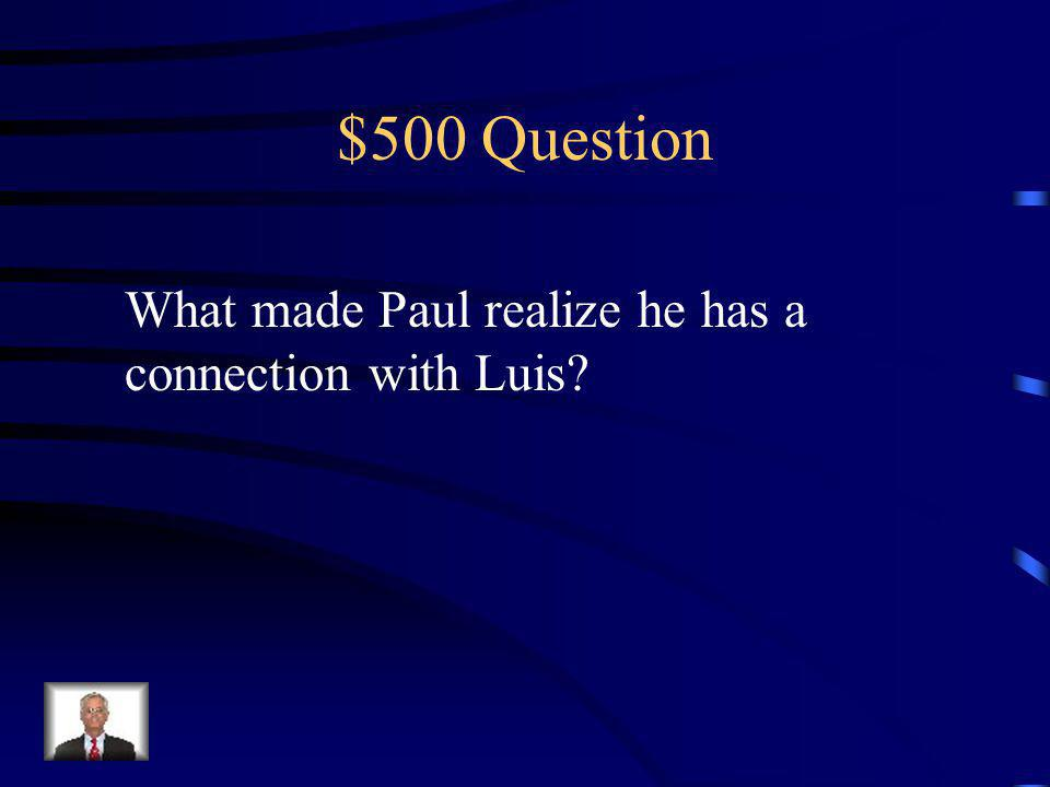 $400 Answer The spray painted Pauls eyes back in Silver Meadows