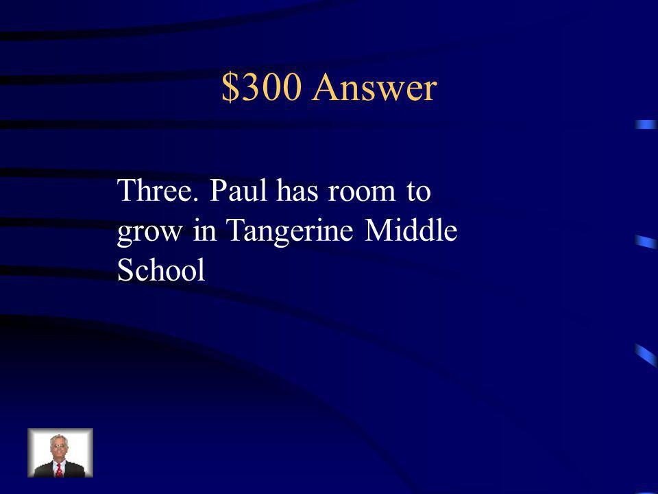 $300 Question How many floors does Tangerine have Why is that symbolic