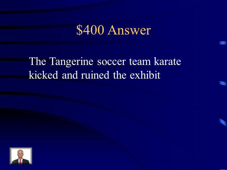 $400 Question What conflict occurred at the Wonders of the World Exhibit