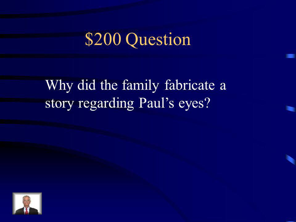 $100 Answer His mom and dad pay more attention to Erik. He is not part of the EFFD.