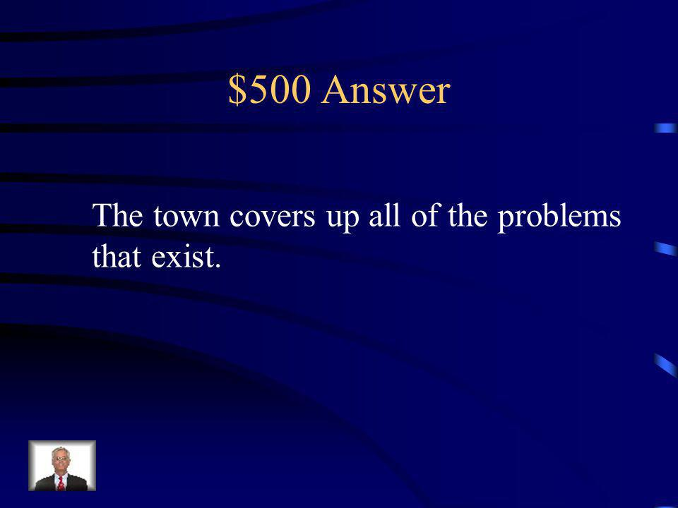 $500 Question How is Lake Windsor Downs a façade?
