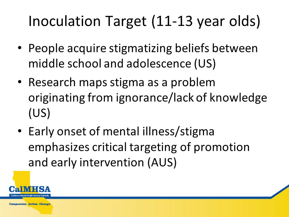 Inoculation Strategy Creative Strategy Inoculate against stigma through education