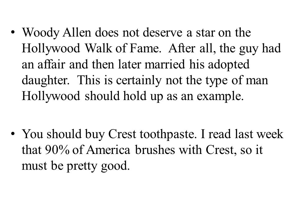 Woody Allen does not deserve a star on the Hollywood Walk of Fame.