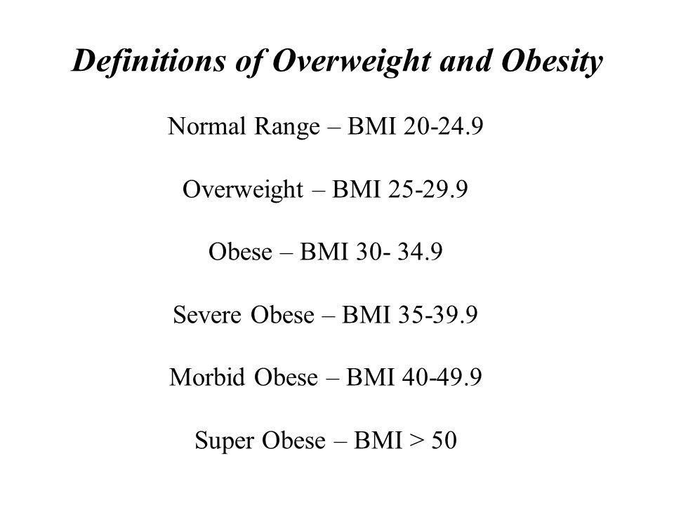 LETHAL Complications of morbid obesity are LETHAL Morbidly obese: die 10 to 15 years earlier 0 1 2 3 4 202530 35 40 Mortality Ratio Body Mass Index Fontaine KR, Redden DT, Wang C, Westfall AO, Allison DB.