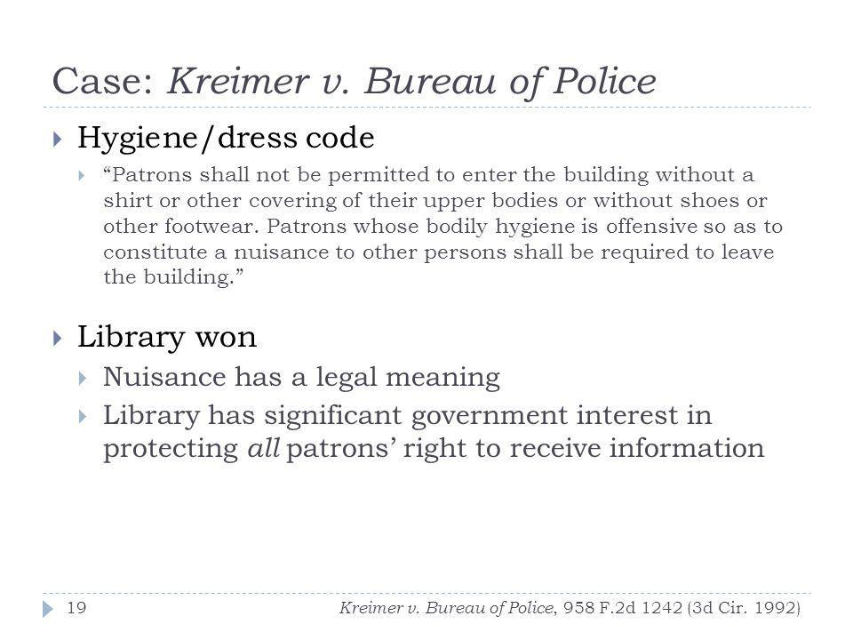Case: Kreimer v.
