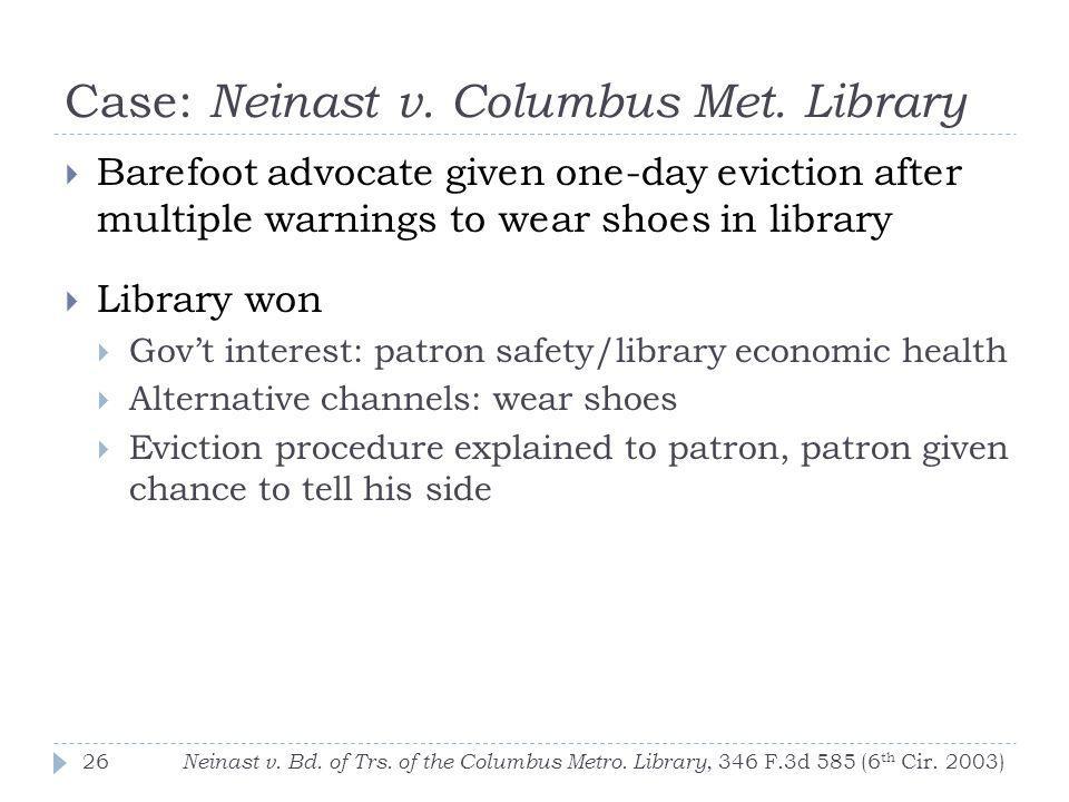 Case: Neinast v. Columbus Met. Library Neinast v.