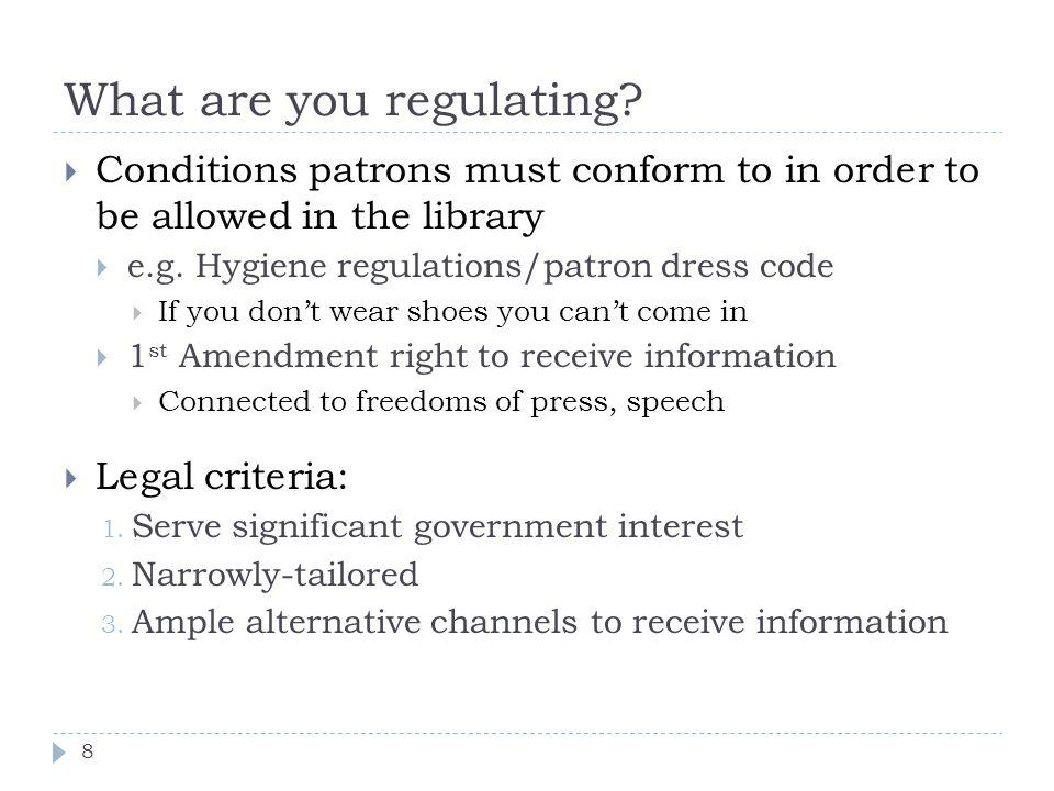 What are you regulating.