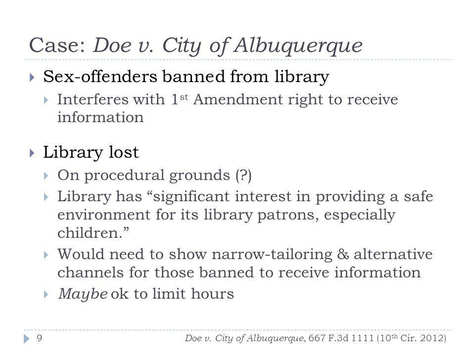 Case: Doe v. City of Albuquerque Doe v. City of Albuquerque, 667 F.3d 1111 (10 th Cir.