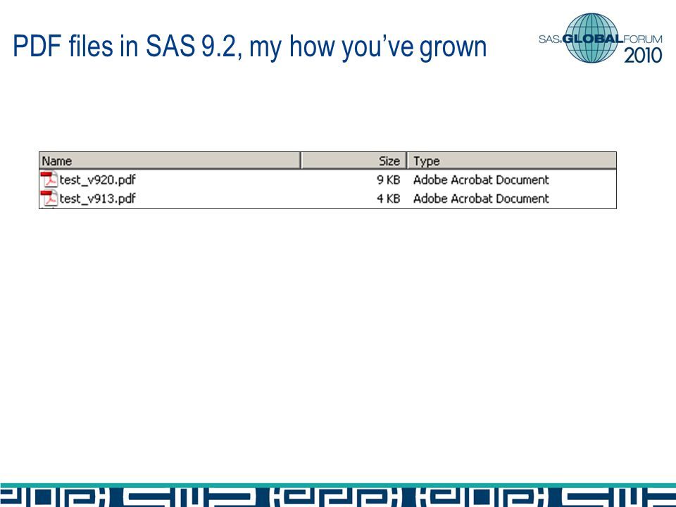 PDF files in SAS 9.2, my how youve grown