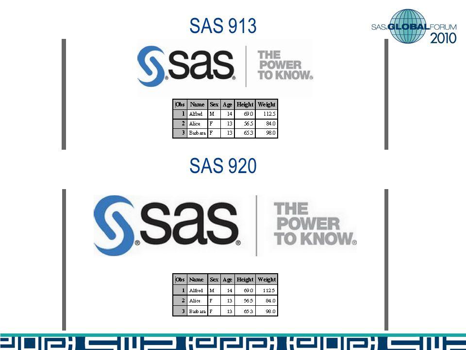 SAS 913 SAS 920
