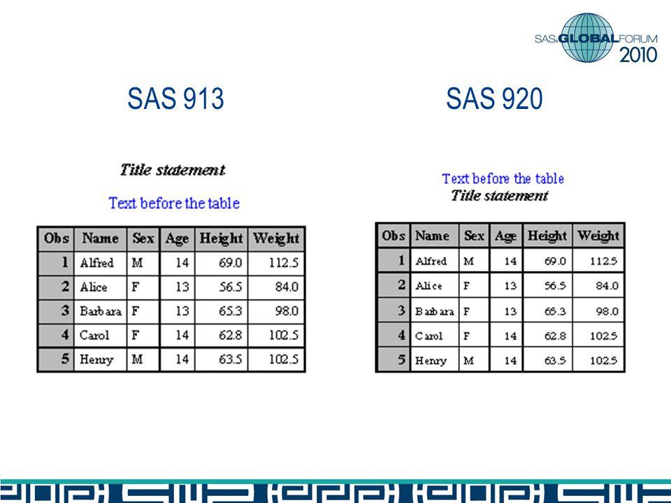 SAS 920SAS 913