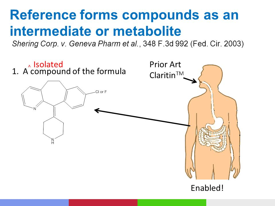 Reference forms compounds as an intermediate or metabolite Shering Corp.