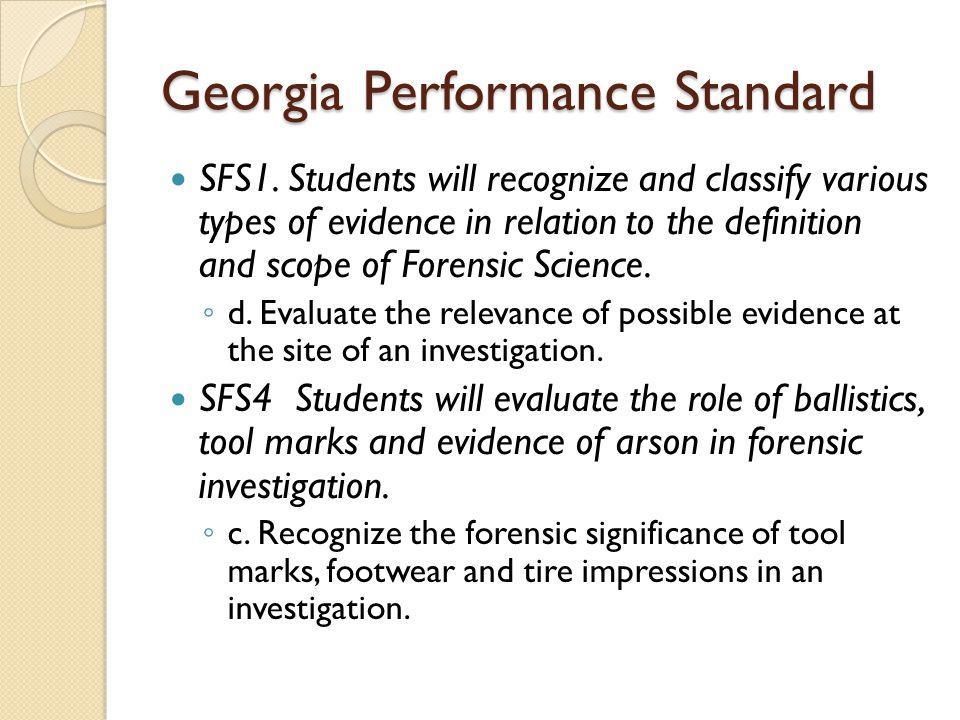 Georgia Performance Standard SFS1.