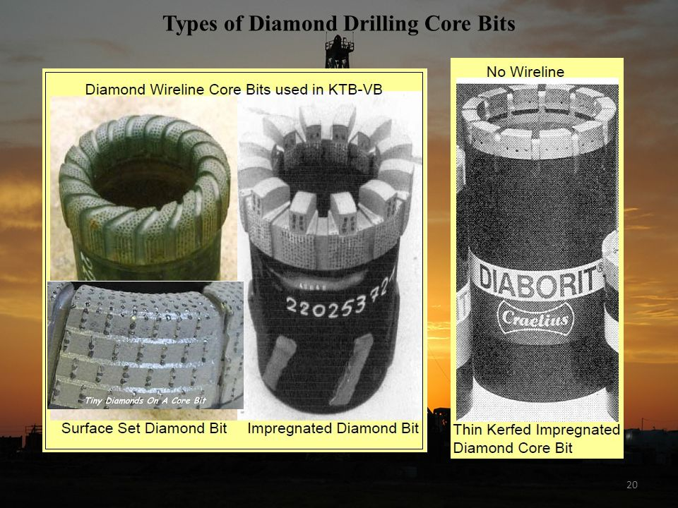 20 Types of Diamond Drilling Core Bits