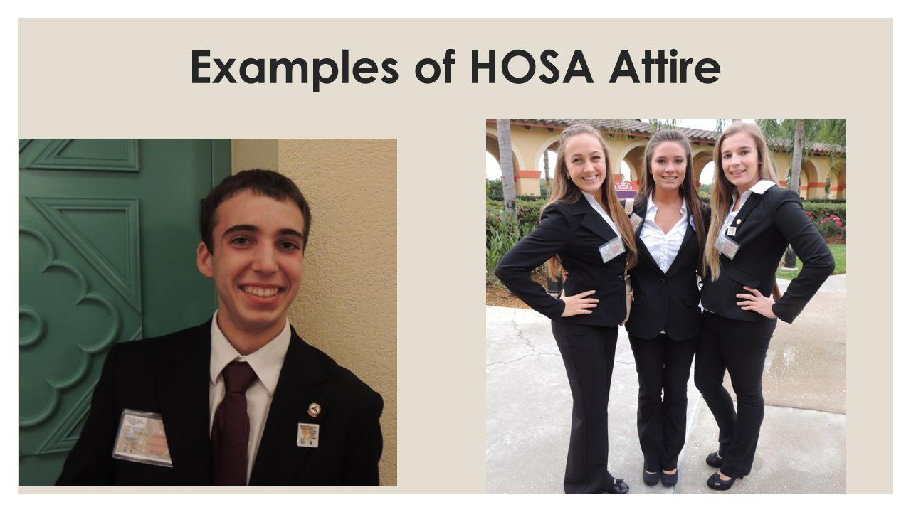 Examples of HOSA Attire