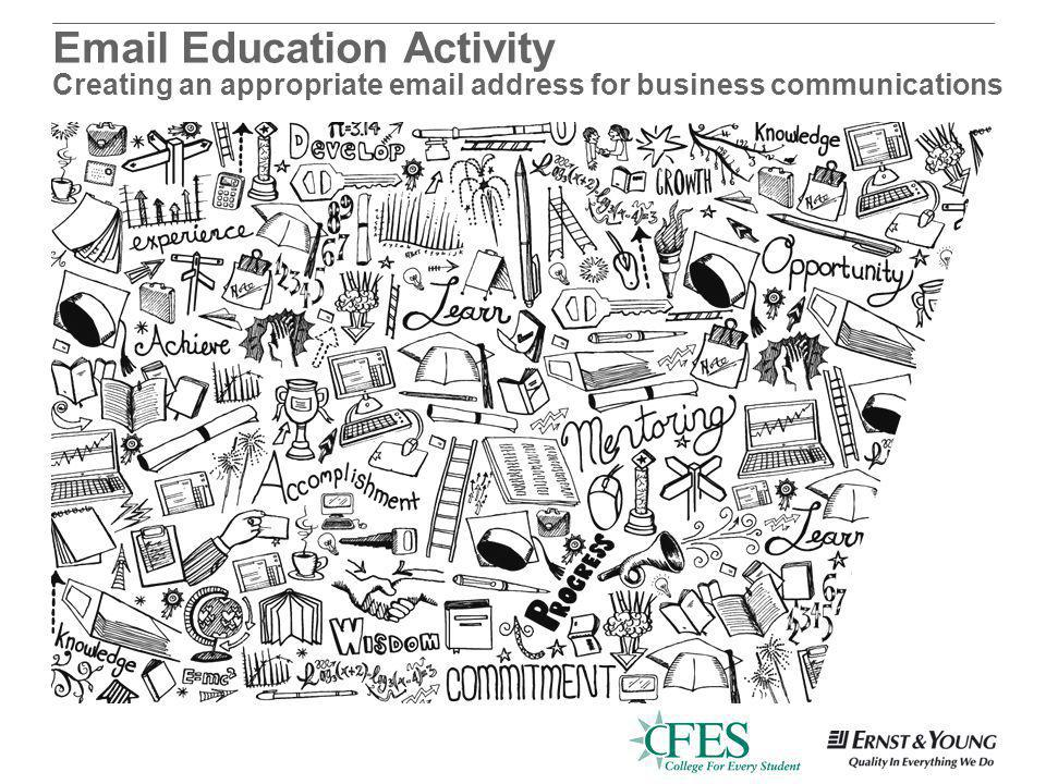 Education Activity Creating an appropriate  address for business communications